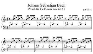 Bach Prelude in C, Well-Tempered Clavier, Book I