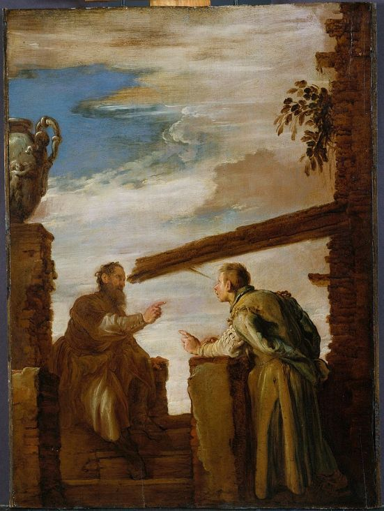 800px-Domenico_Fetti_-_The_Parable_of_the_Mote_and_the_Beam c 1619