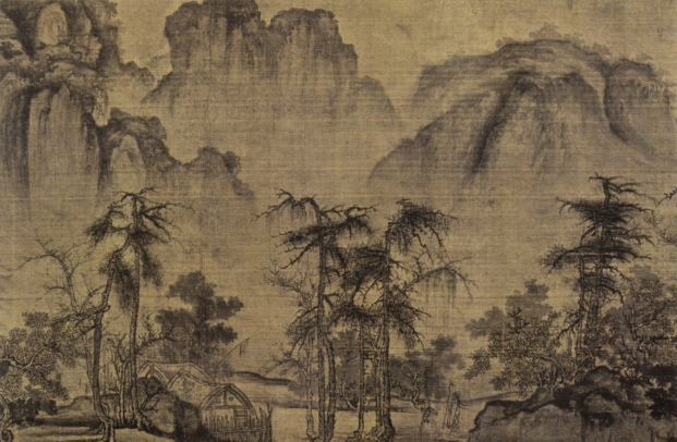 Kuo Hsi, Clearing Autumn Skies over Mountains and Valleys, Northern Song Dynasty c. 1070, detail from a horizontal scroll. [33]