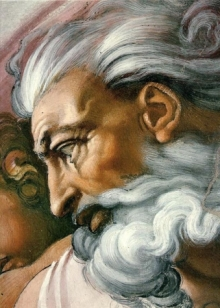 Michelangelo : Eye of God. Sistine Chapel, 1508-12.