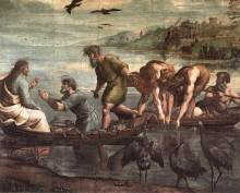 Raphael : The Miraculous Draught of Fishes (1515)