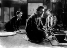 Akira Kurosawa: No Regrets for Our Youth. The widow at the rural dwelling of the parents of her executed husband.