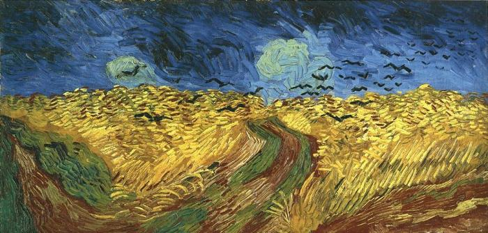 Vincent van Gogh: Wheatfield with Crows. Auvers-sur-Oise, France, 1890.