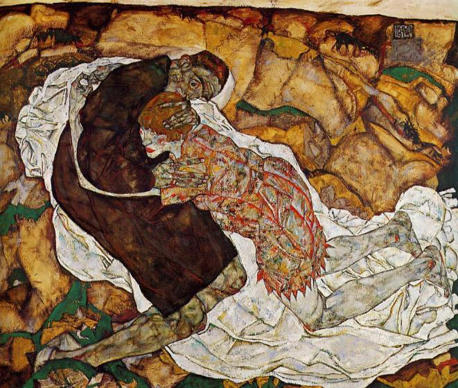 death-and-the-maiden egon schiele 1915