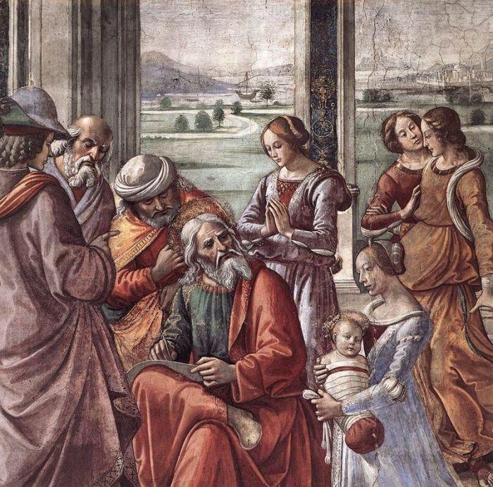 Domenico Ghirlandaio : Zachariah Writes Down the Name of his Son (circa 15 c.)
