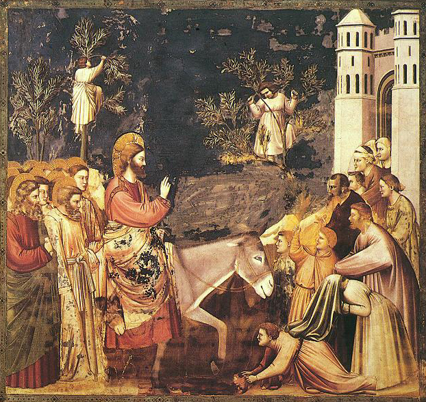 Giotto: Christ's Entry into Jerusalem (14th c.)