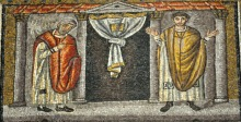 The Pharisee and the Publican. Sant'Apollinare Nuovo, Ravenna, Italy