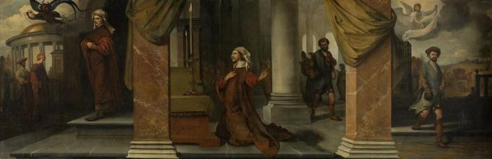 Barent Fabritius : Parable of the Pharisee and the Publican (1661)