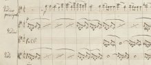From the first page of the MS of Mendelssohn's violin concerto.