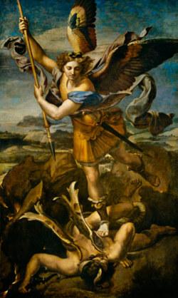 Raphael: St. Michael Vanquishing Satan (1518). Louvre.
