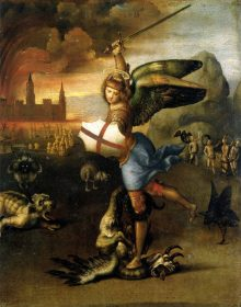 Raphael: St. Michael and the Dragon (1503-05). Louvre.