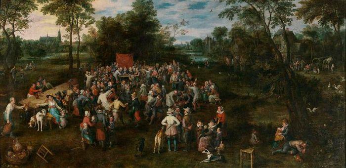 Jan Brueghel the Elder : The Wedding Banquet (1623)