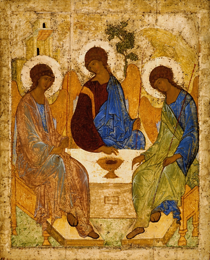 Andrei Rublev : Icon of the Old Testament Trinity (c. 1425-27)
