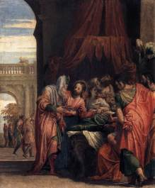 Paolo Veronese : The Raising of the Daughter of Jairus (1546)